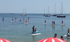 Cascais paddle surfing
