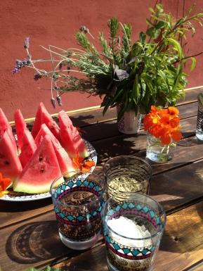 Snacks at yoga retreat